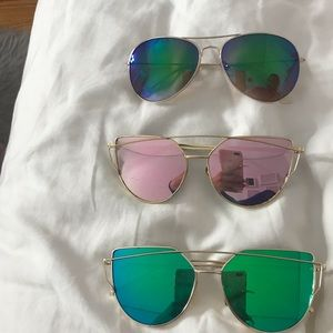 3 for $11 reflective sunglasses